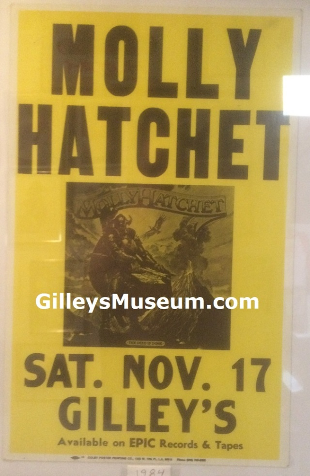 Vintage Molly Hatchet concert poster from November 17, 1984.