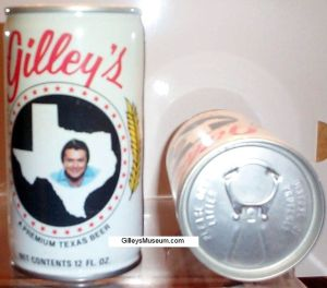 Gilley's Indented Steel Beer Can