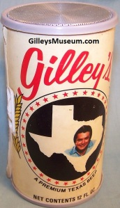Vintage Gilley's Beer can RADIO