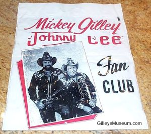 M. Gilley & J. Lee Fan Club Shopping Bag.