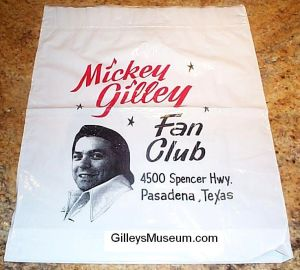 Gilley's Fan Club shopping bag w/o hat.