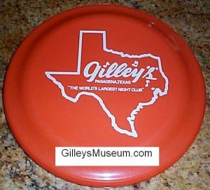 Vintage Gilley's orange frisbee.