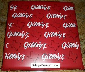 Gilley's seat cushion, back view.