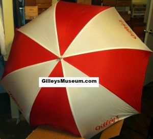 Top view of Gilley's Pasadena, Texas umbrella.