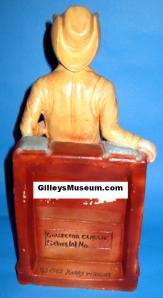 Mickey Gilley chalk  ware statue from the back.